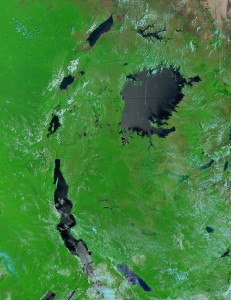 As seen from space, the Great Lakes rank as one of Africa'smost vital socio-economic