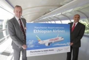 Ethiopian adds Manchester as UK-Africa capacity rises