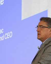 IATA Chief Executive Alexandre de Juniac speaking during IATA Global Media Day on December 12 in Geneva